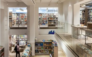 Cross section of Foyles' Charing Cross Road branch.