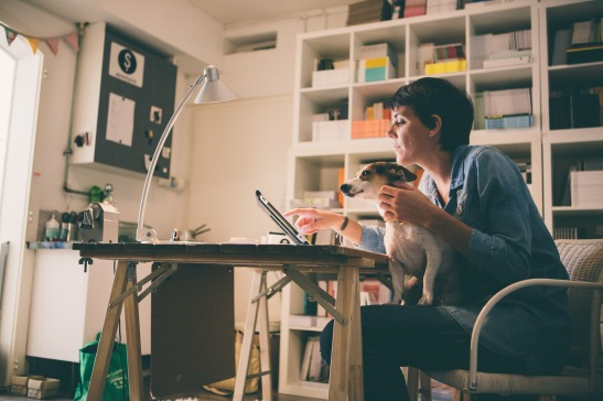 Celine with dog